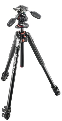 - Manfrotto 190XPRO Aluminum 3-Section Tripod Kit with 3-Way Head (MK190XPRO3-3W)