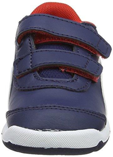 flame Stepfleex Puma Scarlet Unisex Blau Inf SL Kinder V puma Peacoat Sneaker 2 White 8 qq7ExTwF
