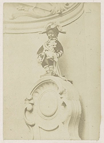 Classic Art Poster - Manneken Pis in costume, medals, sash and plug in Brussels, anonymous, 1878 - 1890 11