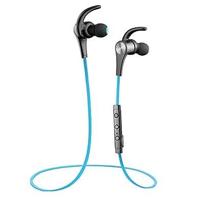 Auriculares Bluetooth 4.1 Cascos Deportivos auriculares inalambricos manos libres con micrófono y SoundPEATS Auricular con sonido