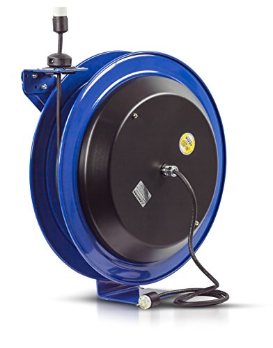 (Coxreels EZ-Coil Safety Series Power Cord Reel - 100 Ft., Model# EZ-PC24-0012-A)
