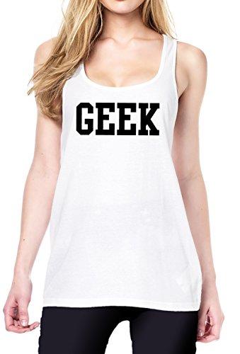 GEEK Tanktop Girls Blanc