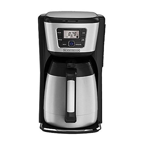 Amazon.com: CM2035B 12 tazas Cafetera térmica, Negro / Plata