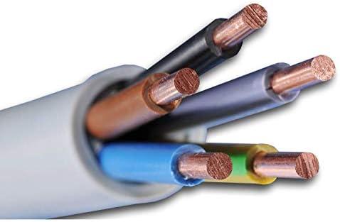 cable de instalaci/ón NYM-J 5x6 mm2 n/úmero de piezas en la cesta = metros en una longitud NYM-J 5x6 mm2 Cable para calentador de agua de agua caliente