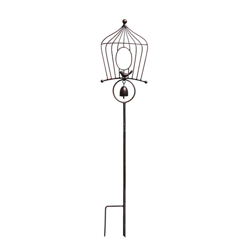 Garden Sculptures Garden Decoration Courtyard Outdoor Decoration Balcony framing Wind Chime Bird House (Color : Brown, Size : 9119cm)