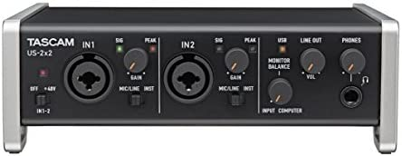 Tascam Trackpack 2x2 Complete Recording Studio Package for Mac//Windows Computers