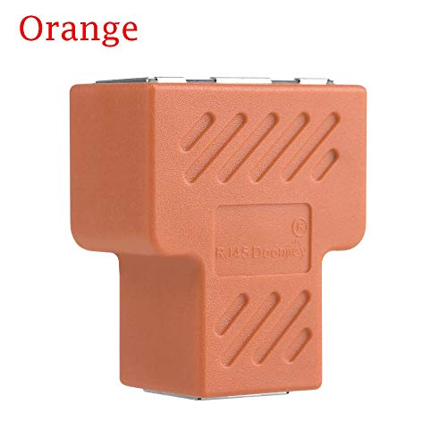 Connector Rj45-1pc 1 To 2 Lan Ethernet Network Rj45 Splitter Extender Plug Computer Cable Adapters 9 Colors - Rj11 Ethernet Cable Splitter Pair Tool Rj45 Connect Cat5e Cabl Cat6 Network Twist ()