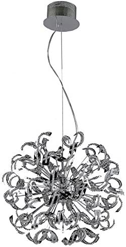 Elegant Lighting 2068D27C EC Chrome Tiffany 27.5in. Wide 25 Light Pendant with Cut Crystal
