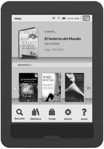 bq Cervantes Touch Light, 4GB. E-reader táctil con Wi-Fi: Amazon ...