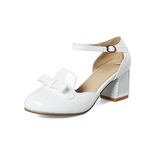 Compensées Femme 5 Blanc AdeeSu Sandales 36 EU Blanc pqxpwAT
