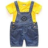ミニオンズ コスプレ 仮装 子供 ハロウィン Tシャツ セットアップ オーバーオール (100cm)