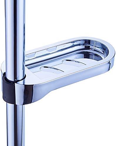 material ABS apto para tubo de 24 mm INCHANT Shower Rail Clip-on Jabonera para ba/ño Jabonera