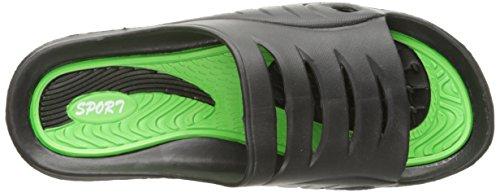 Gear One Cinco Herren Gummi Sandale Slipper Komfortable Dusche Strand Schuh Slip auf Flip Flop Grün