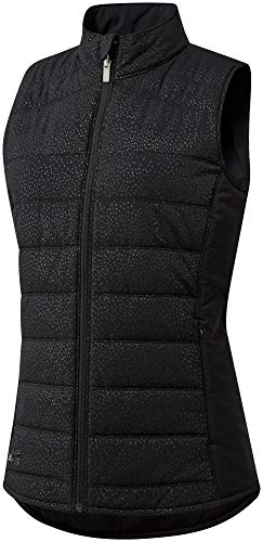 adidas Golf Women's Reversible Quilted Vest, Medium, Black/Core Heather