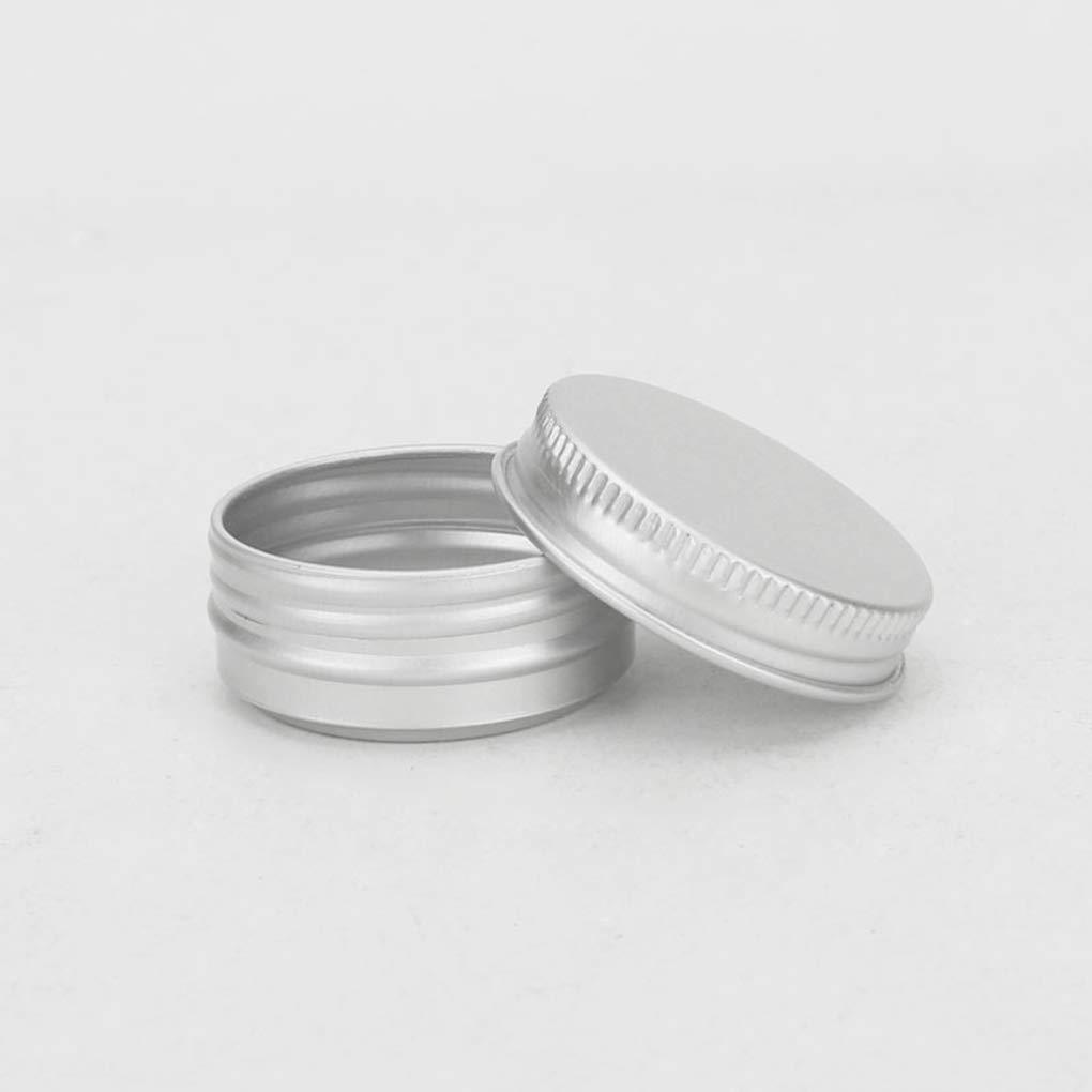 Lorjoyx 10pcs Bo/îte Ronde Tea Leaf M/étal vis Top Cosm/étique Aluminium Echantillon Salve Conteneurs
