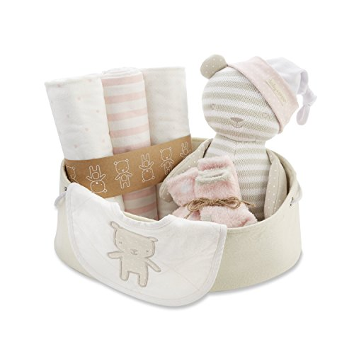 Baby Aspen Beary Special Welcome Set, Pink/White/Beige, 0-6 Months ()