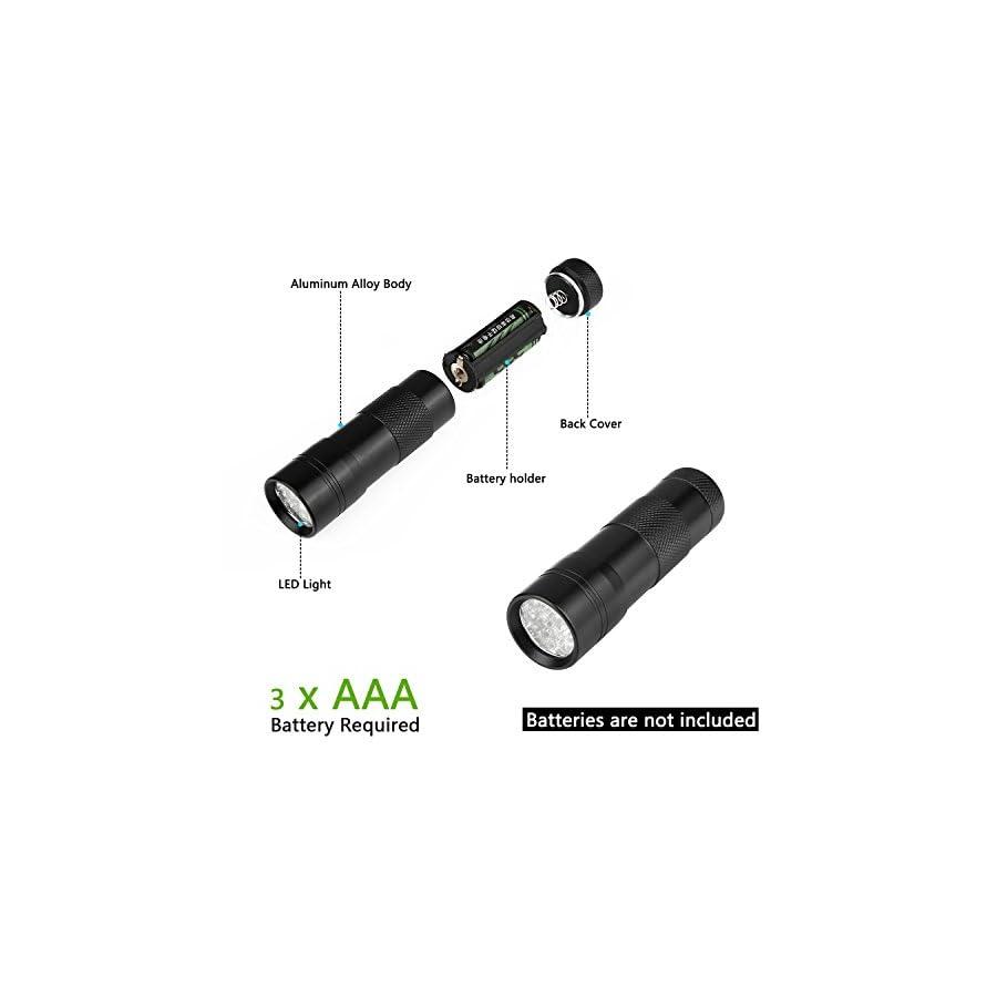 Findway 5 UV Ultra Violet Blacklight 9 LED Flashlight Torch Light Outdoors
