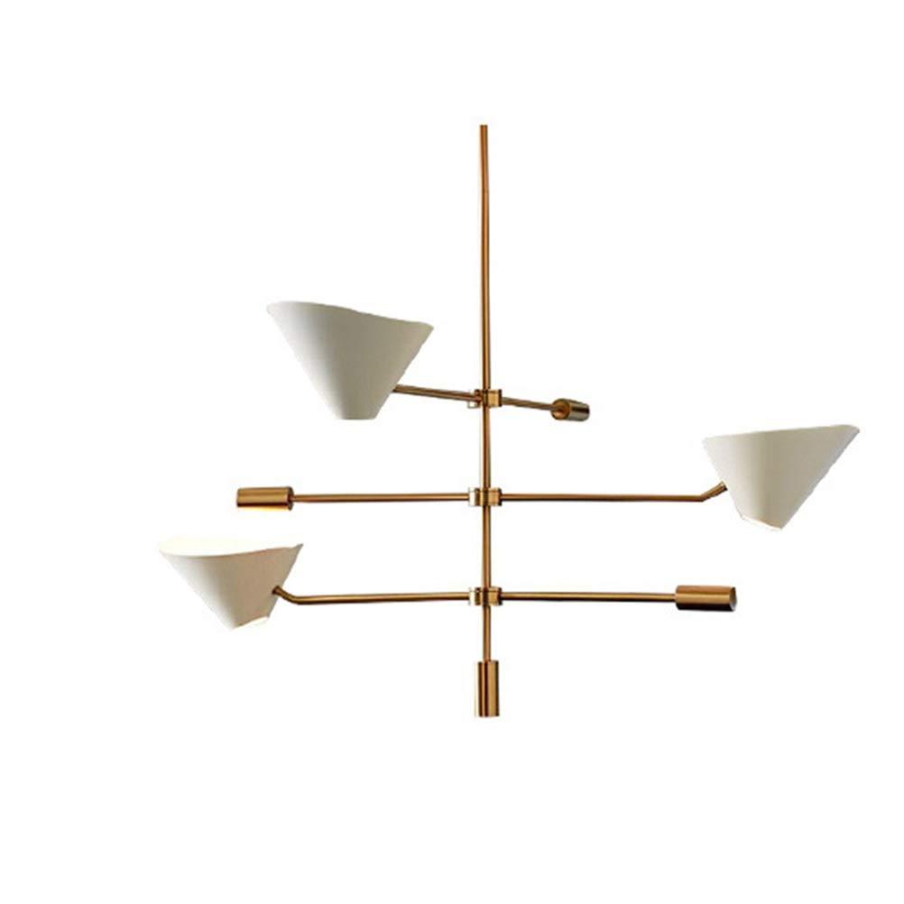 天井照明シャンデリア ポストモダンペンダントライトシンプルなリビングルームのシャンデリアレストランの寝室の天井照明カフェ金属産業ノルディックランプ - ホワイト   B07TYSLMSZ