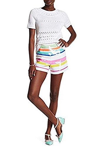 Kate Spade Cape Strip Sequin Mini/Short Shorts 0