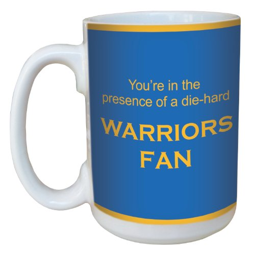 Tree-Free Greetings lm44148 Warriors Basketball Fan Ceramic Mug with Full-Sized Handle, 15-Ounce