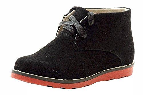 Enkla Strider Pojkar Chukka Tossor Mode Boot Skoluniform Skor Svart