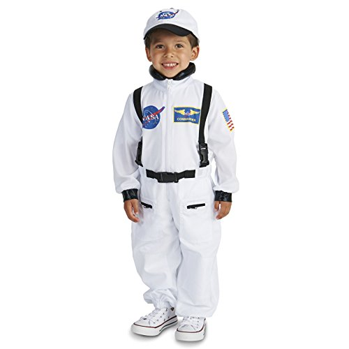 [White Astronaut Toddler Dress Up Costume 2-4T] (Astronauts Costumes)