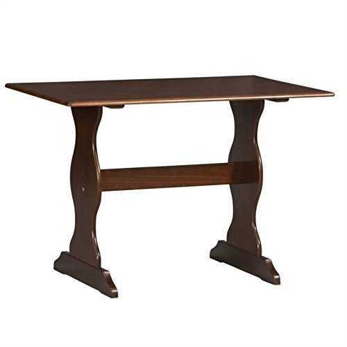 Linon Solid Pine Table in Walnut - Linon Pine Table