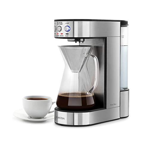 Klarstein Perfect Brew cafetera de filtro con cabezal giratorio – Máquina de café, 1800W, 1,8L, Control digital…