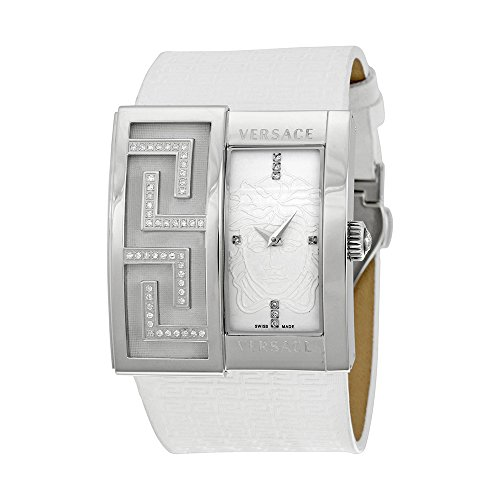 Versace V-Greca White Dial Diamond Ladies Watch 65Q91SD002-S001