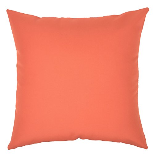 Do4U Home Decorative Hand Made Pillow Cover Fiber Waterproof Throw Pillow Case Cushion Cover For Travel Use,Indoor, Outdoor,Rattan Sofa 18 x18 inches (Orange)
