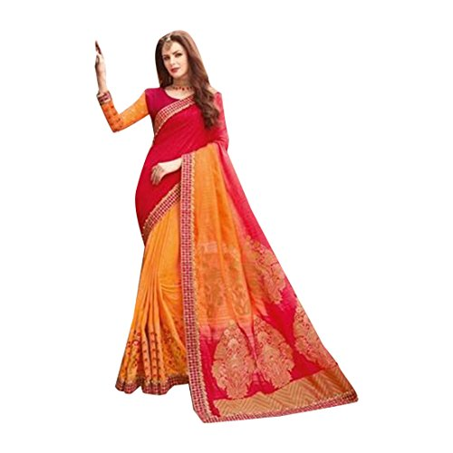 (Designer Bollywood Saree Sari for Women Latest Indian Ethnic Wedding Collection Blouse Party Wear Festive Ceremony 2526 4)