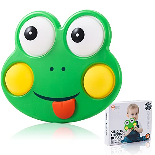 Liiyzy Simple Dimple Fidget Toys, Baby Dimple Sensory Toys, Push Pop Bubble Silicone Toy Frog Fun Board, Early Educational Toy, Handheld Fidget Blocks Stress Relief Autism Toys for Adults and Kids