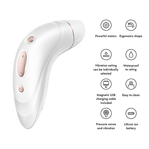Satisfyer Pro Plus Vibration – Vibrating and Air Pressure Technology Activated Orgasms, Rechargeable Waterproof Fun!