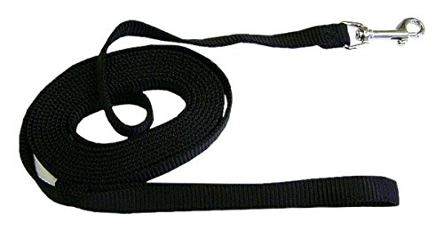 Hamilton Nylon Dog Training Lead, 5/8-Inch by 15-Feet, Black