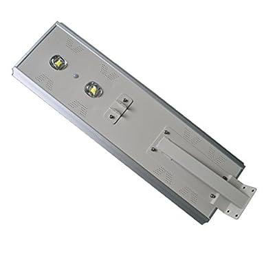 Zesol 80w Ultra Bright LED Solar Light Outdoor, Human Body Sensor Lamp,100w Solar Panel with 57ah Battery Integrated, Solar Garden Light