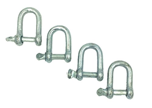 (BRUFER GR-04 Galvanized Screw Pin Chain Anchor