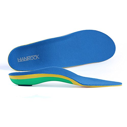 Arch Support Orthotic Insoles/Inserts for Flat Feet, Plantar Fasciitis, Overpronation (8-10.5 Men/9-11.5 Women)