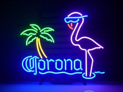 New Larger Corona Extra Pink Flamingo Neon Light Sign 20