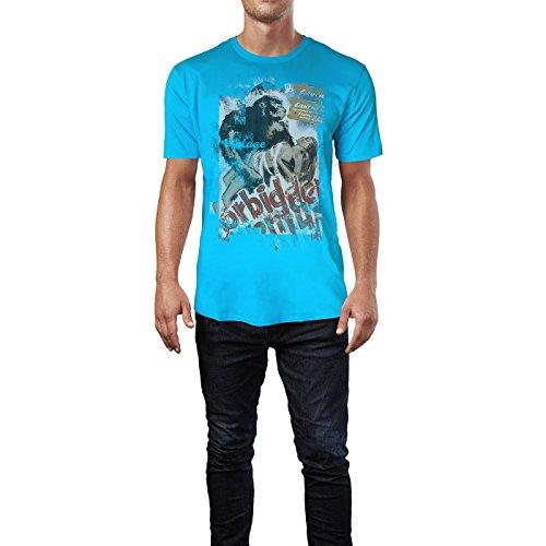 SINUS ART® King Kong Forbidden Herren T-Shirts in Karibik blau Cooles Fun Shirt mit tollen Aufdruck