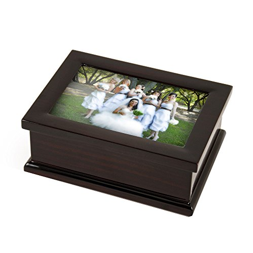 Sophisticated Modern 4 X 6 Photo Frame Musical Jewelry Box - Over 400 Song Choices - Fur Elise (Beethoven)