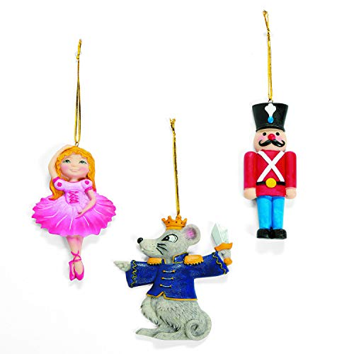 Nutcracker Ballet Christmas Ornaments - Set of 12