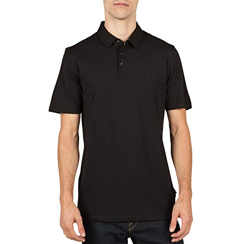 Volcom Men's Wowzer Modern Fit Polo, Black 2, Large by Volcom