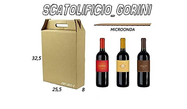 10 piezas cajas de cartón 25,5 x 8 x 32,5 Porta Botellas 3 plazas para aceite y vino unidades navideña, color AVANA/AVANA: Amazon.es: Oficina y papelería