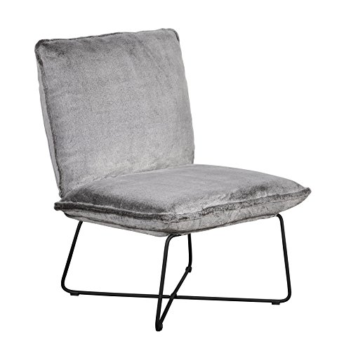 Elle Decor UPH10033F Bennie Accent Chair Armless Lounge, Gray Faux - Armless Chair Lounge
