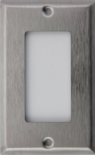 Brushed Satin Stainless Steel One Gang GFI/Rocker Opening Wall Plate
