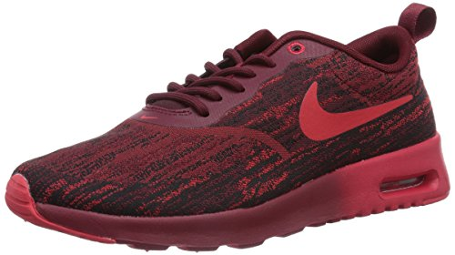 Nike Womens Air Max Thea JCRD Fabric Low Top Lace Up Running, Red, Size 5.5 (Nike Air Max Thea Black And Red)