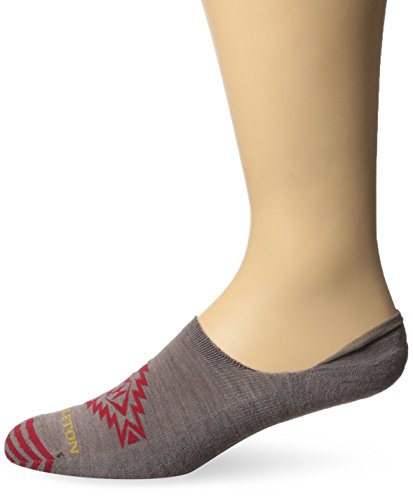 Pendleton Men's Hidden No Show Socks, Star Hero - Khaki, Large(9-12)