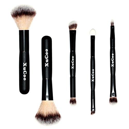 5 Pcs Professional Makeup Brushes Set Foundation Contour Blending Eyeshadow (Set Blush Eye)
