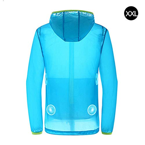 (DaJun Summer Cooling Clothes Set with Fan -Parent-Child Prevent Heat Stroke UV Protection Clothing for Sports, Gym, Yoga, Travel, Camping & More)