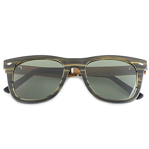 UV Pesca para y TAC de fibra sol para al de madera hombre de Protección Ultra hombres sol Forma Acetato estampada marco ligero cuadrada Lente aire Gafas de Playa Verde libre Conducción polarizadas Gafas vTBnqwSZRn